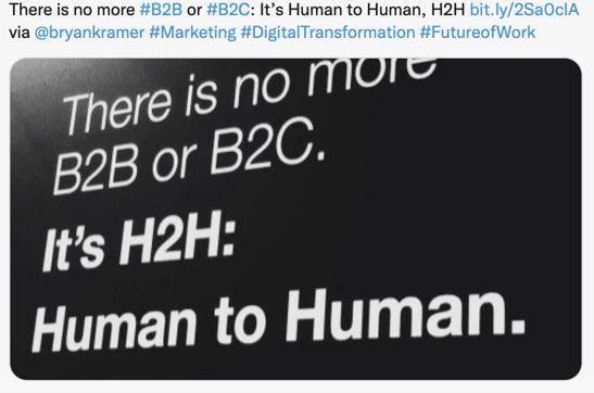 No B2B or B2C - Its H2H